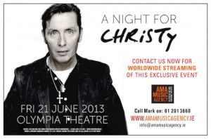 A Night For Christy at The Olympia Theatre | Gig of the Week Christy 300x198
