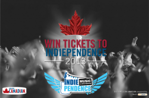 indiependence 2013 Molson Giveaway