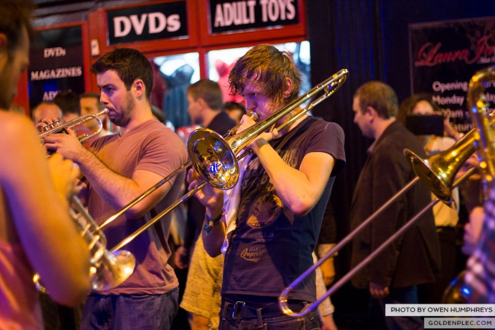 Booka Brass Band at the Roisin Dubh - Galway Arts Festival by Owen Humphreys (23 of 26)