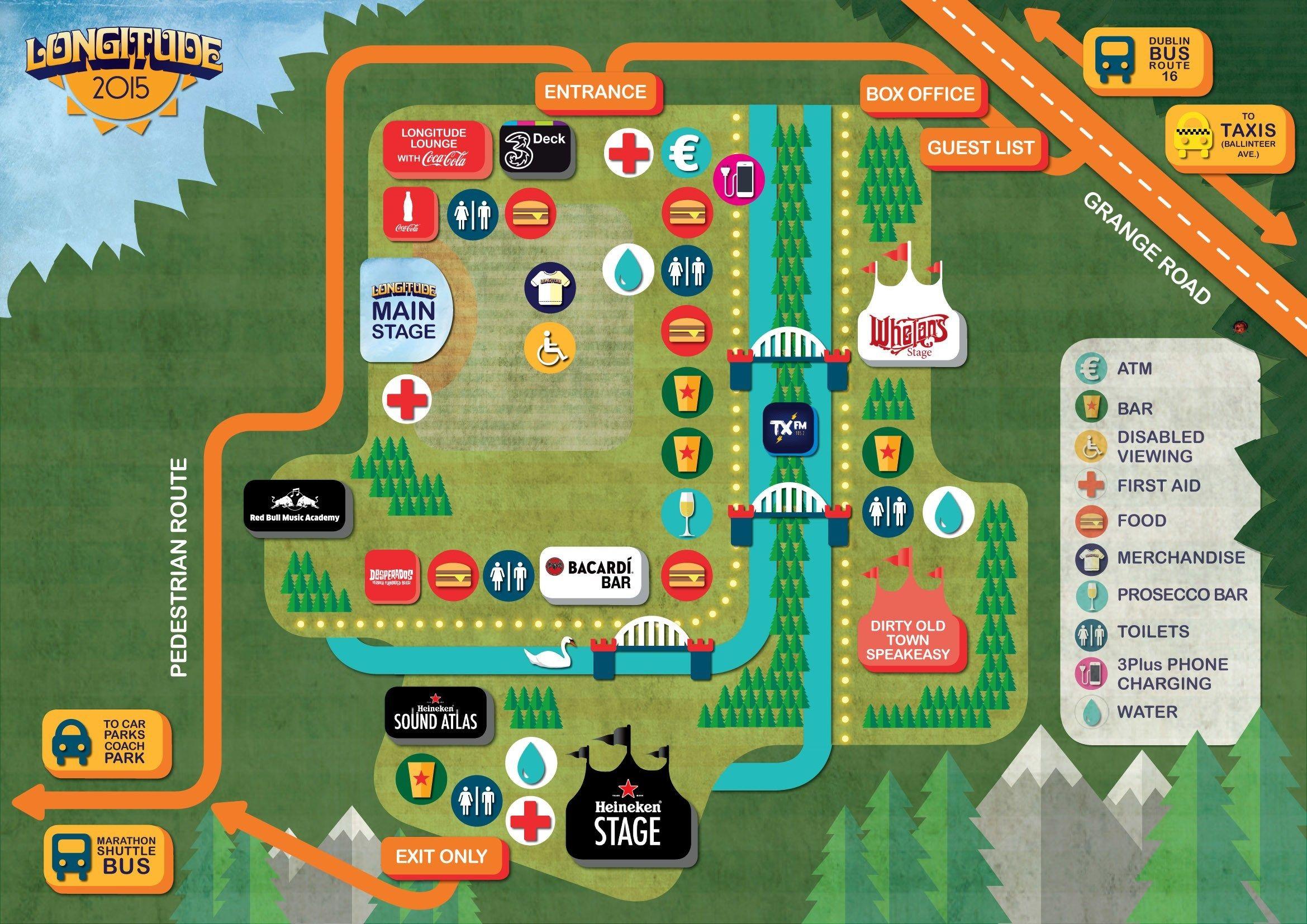 LONGITUDE 2015 SITE MAP